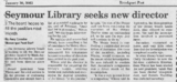 Seymour library seeks new director  brockport post 1.30.03