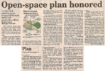 Open space plan honored  2.13.03 penfield post