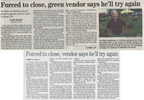 Forced to close  green vendor says he'll try again  7.5.07 penfield post
