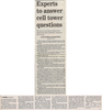 Experts to answer cell tower questions  9.9.07 penfield post
