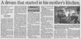 A dream that started in his mothers kitchen  7.26.07 penfield post