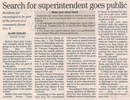 Search for superintendent goes public  10.4.07 penfield post