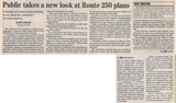 Public takes a new look at route 250 plans  4.19.18 penfield post