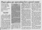 Plant sales spouting for a good cause  4.26.07 penfield post