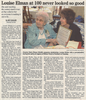 Louise elman at 100  never looked so good  4.5.07 penfield post