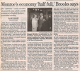 Monroe's economy 'half full' brooks says  3.22.07 penfield post