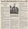 Local skateboarder is on a roll  4.12.07 penfield post