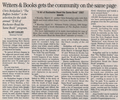 Writers and books gets the community on the same page  3.7.07 webster post