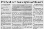 Penfield rec has leagues of its own  4.8.04 penfield post