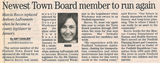 Newest town board member to run again  4.8.04 penfield post