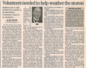 Volunteers needed to help weather the storms  4.8.04 penfield post