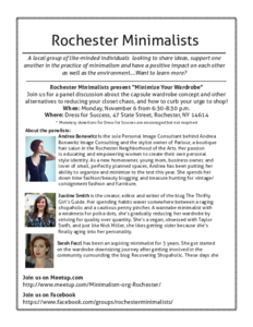 Roc mins flier   november 2017 meeting