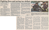 Fighting fires and saving tax dollars  9.20.07 penfield post